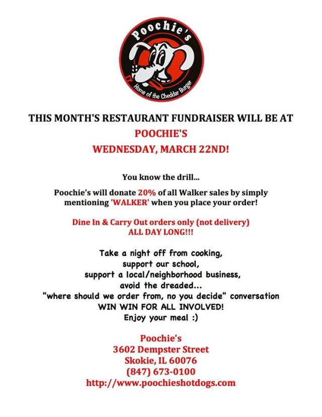 poochies fundraiser March