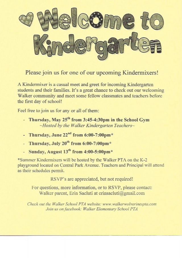 2017 Kindermixer Dates