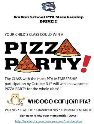 Walker PTA membership drive 2017