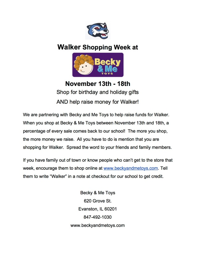 Becky&Me Toys Walker Fundraiser Flyer