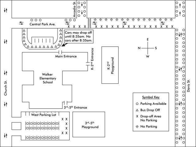 Walker School Parking Map