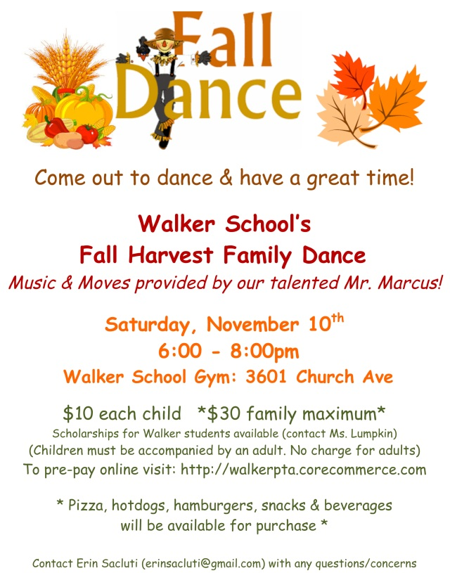 Microsoft Word - Walker PTA Fall Dance Fri Folders.doc