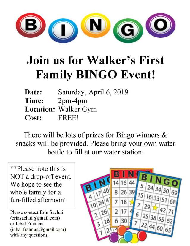 Walker Bingo Event