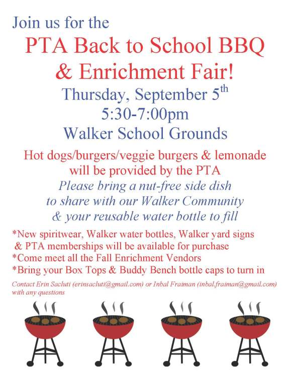 Walker Back to School BBQ