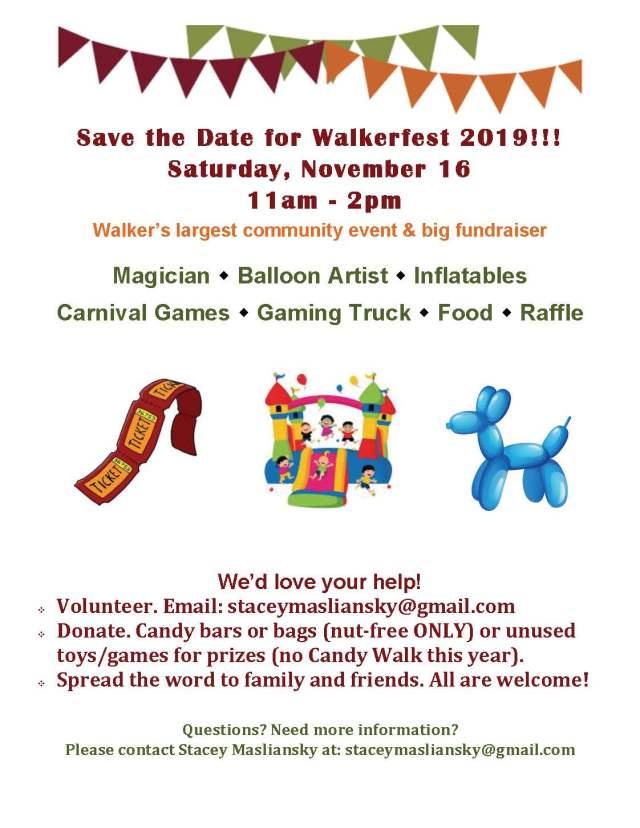 walkerfestfall2019 Save the Date
