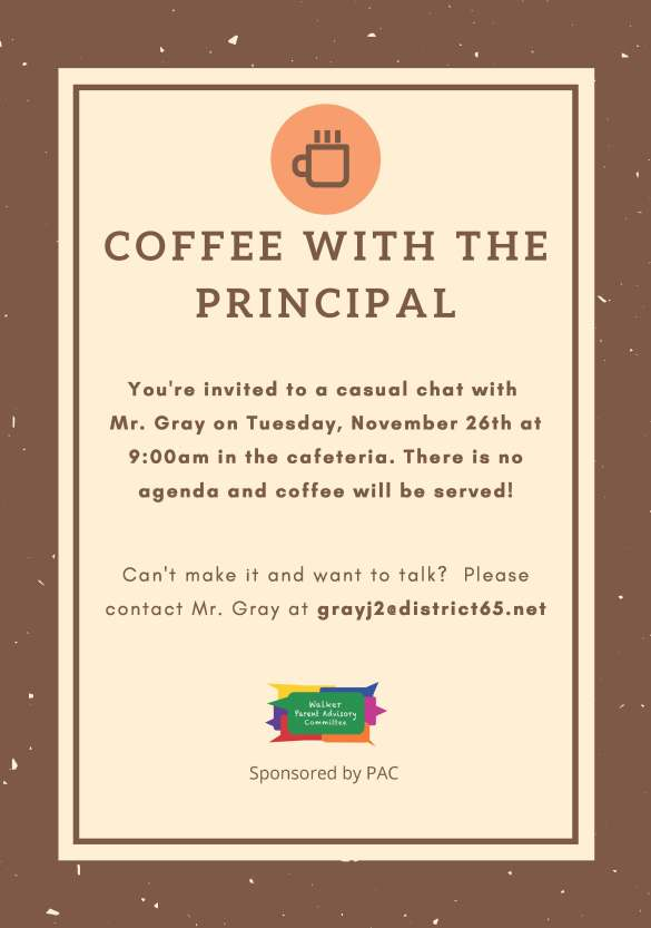 Coffee with the Principal_November