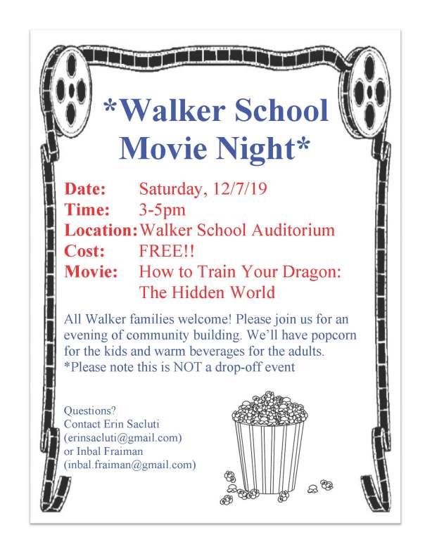 Walker Movie Night12-7