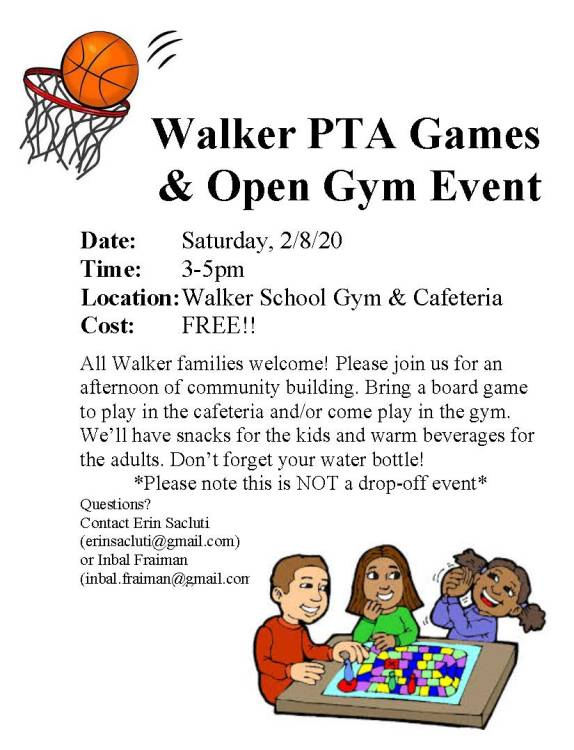 Walker Games and Open Gym 2-8