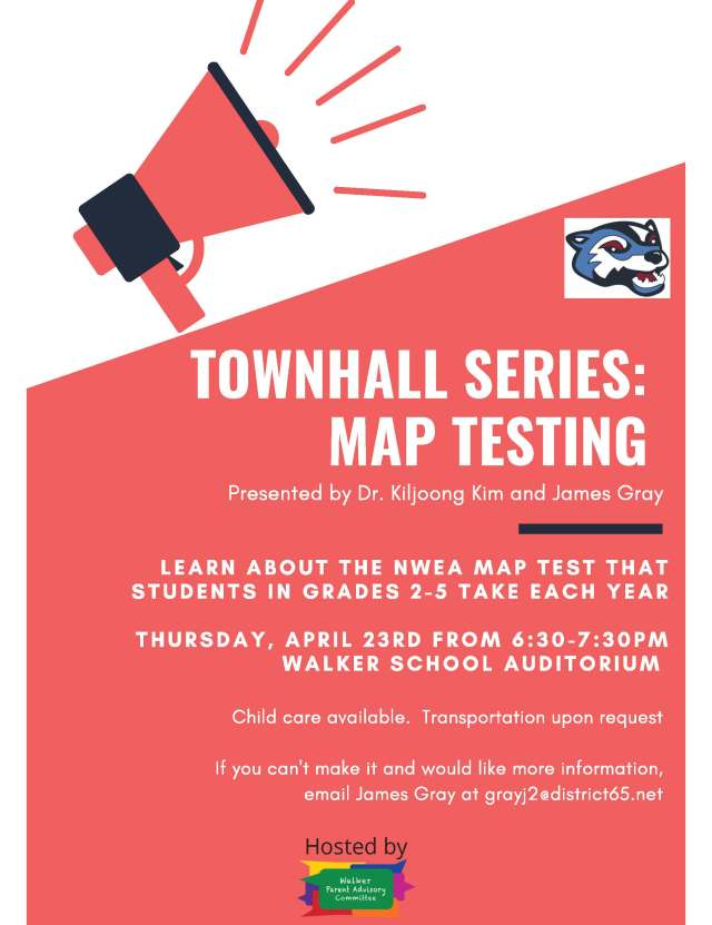 townhall flyer MAP TESTING